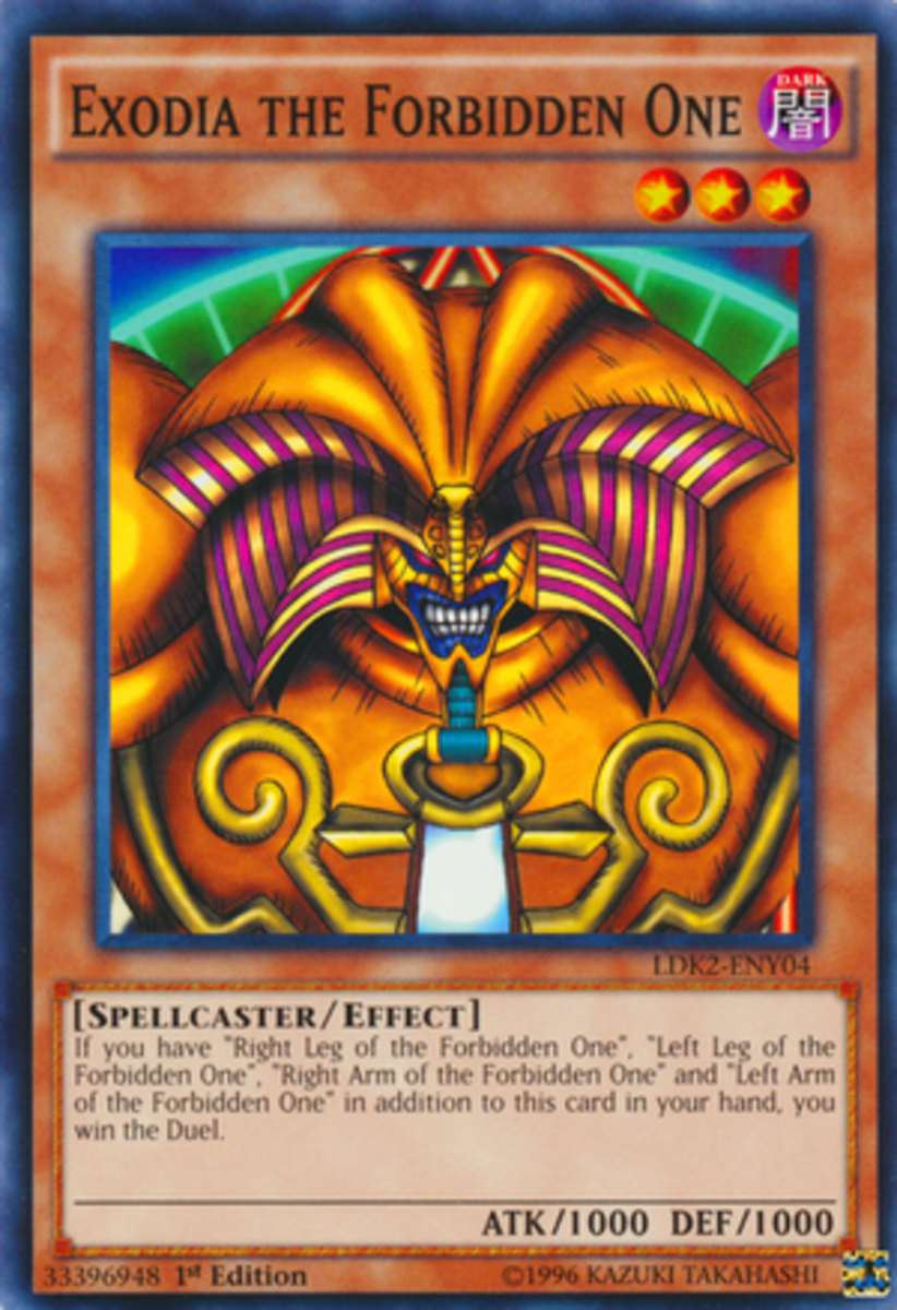 It would be an interesting experiment to see which Yugioh monster is more recognizable: Exodia or Blue-Eyes White Dragon?