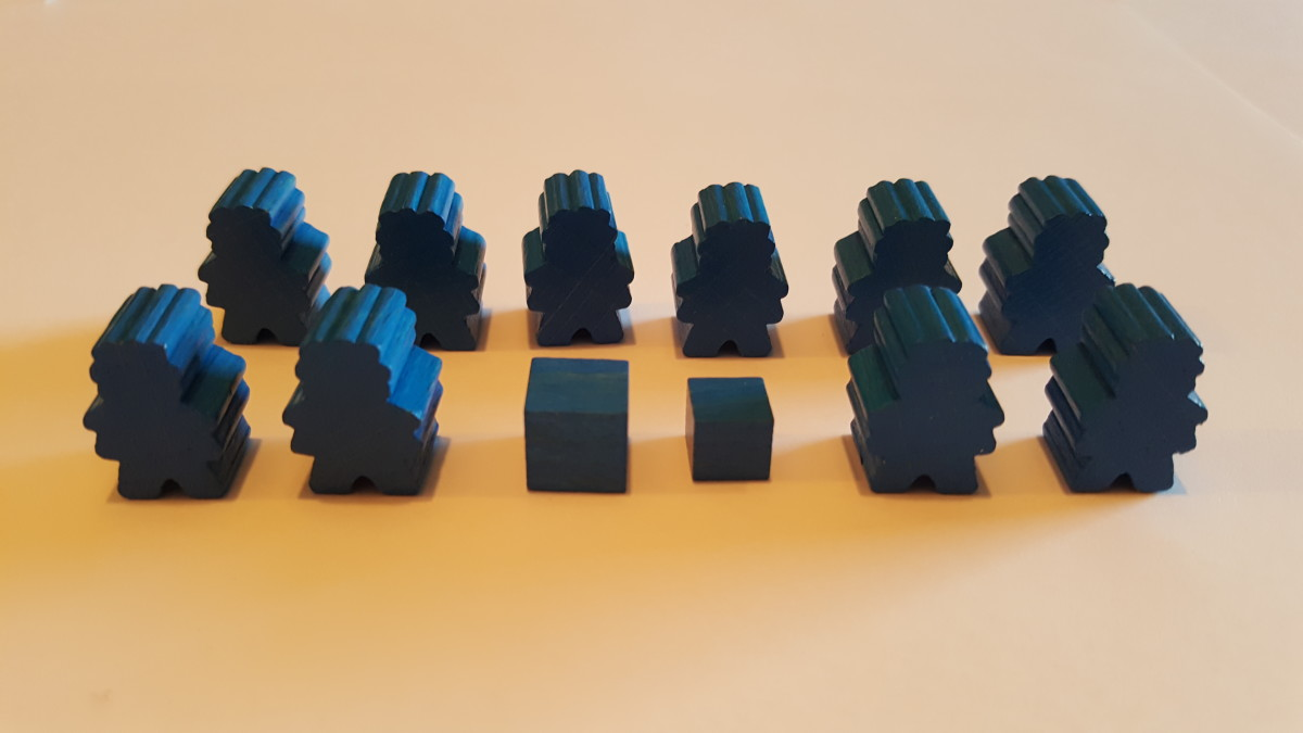 Stone Age Player Pieces in Blue