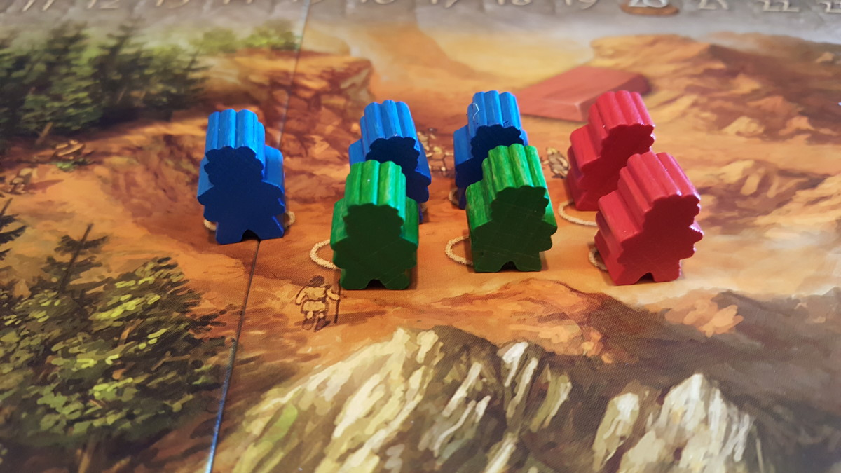 Stone Age Player Pieces on Action Spots