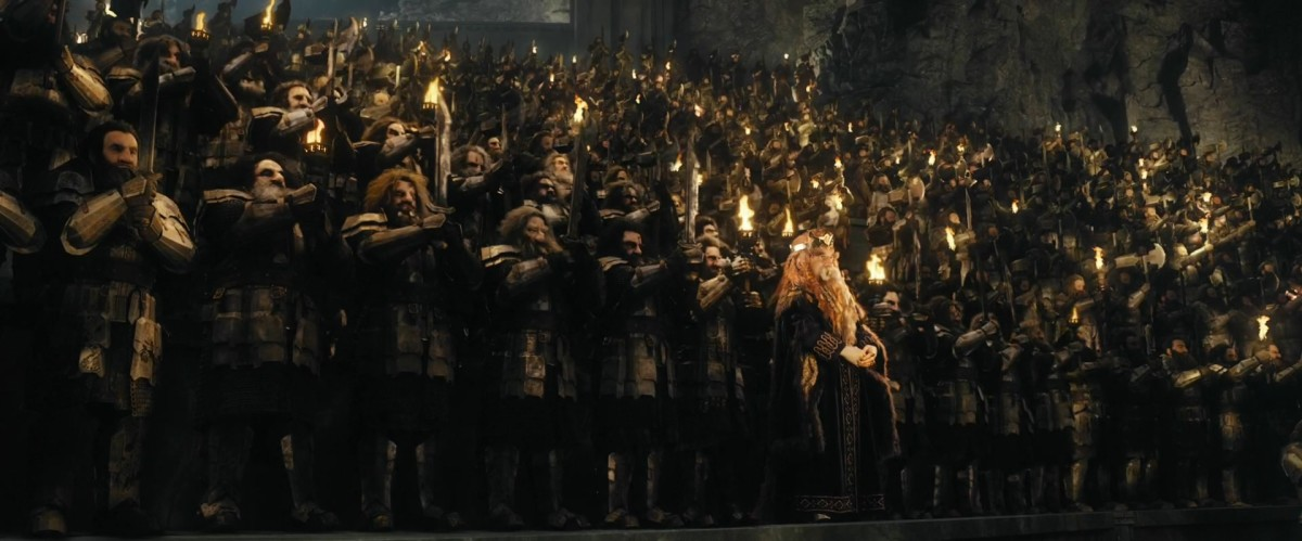 From New Line Cinema.  Though small in height, the dwarves are the equals of the other races in everything else and will remind you of it if you forget it.