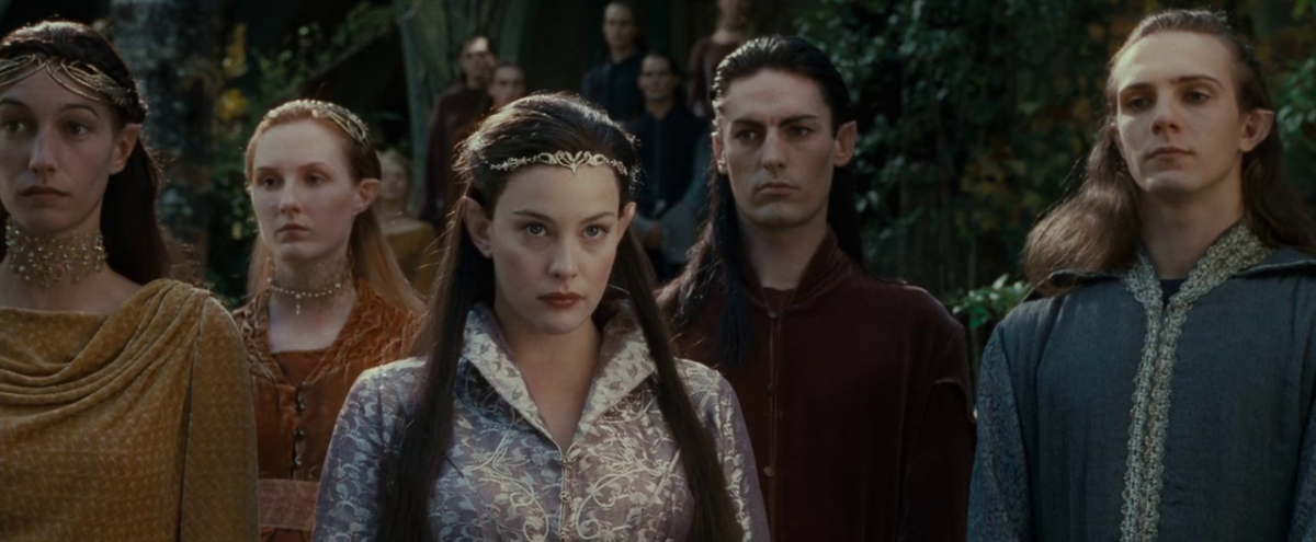 From New Line CInema.  Even diminished in power and stature by the Third Age, the elves were still regarded as the perfect race by most other races; if at most times aloof from them.