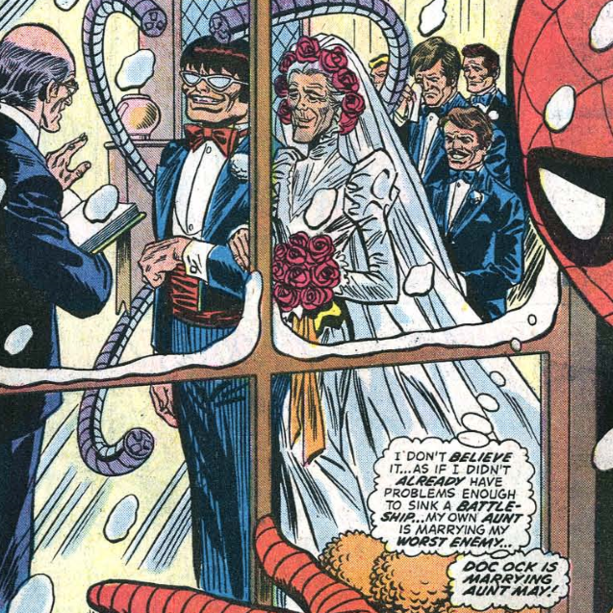 One of many sentences Peter thought he'd never have to say during his career as Spider-Man.