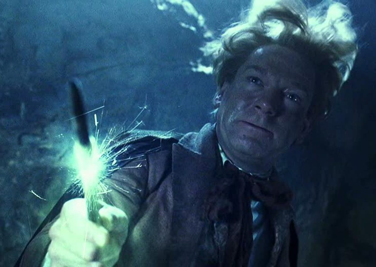 Gilderoy Lockhart casting Obliviate