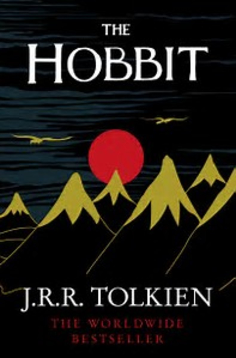 "Book cover for ""The Hobbit"""
