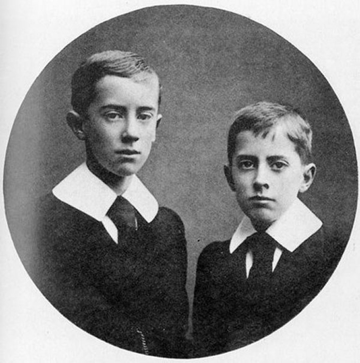 J.R.R. Tolkien and his younger brother Hilary.