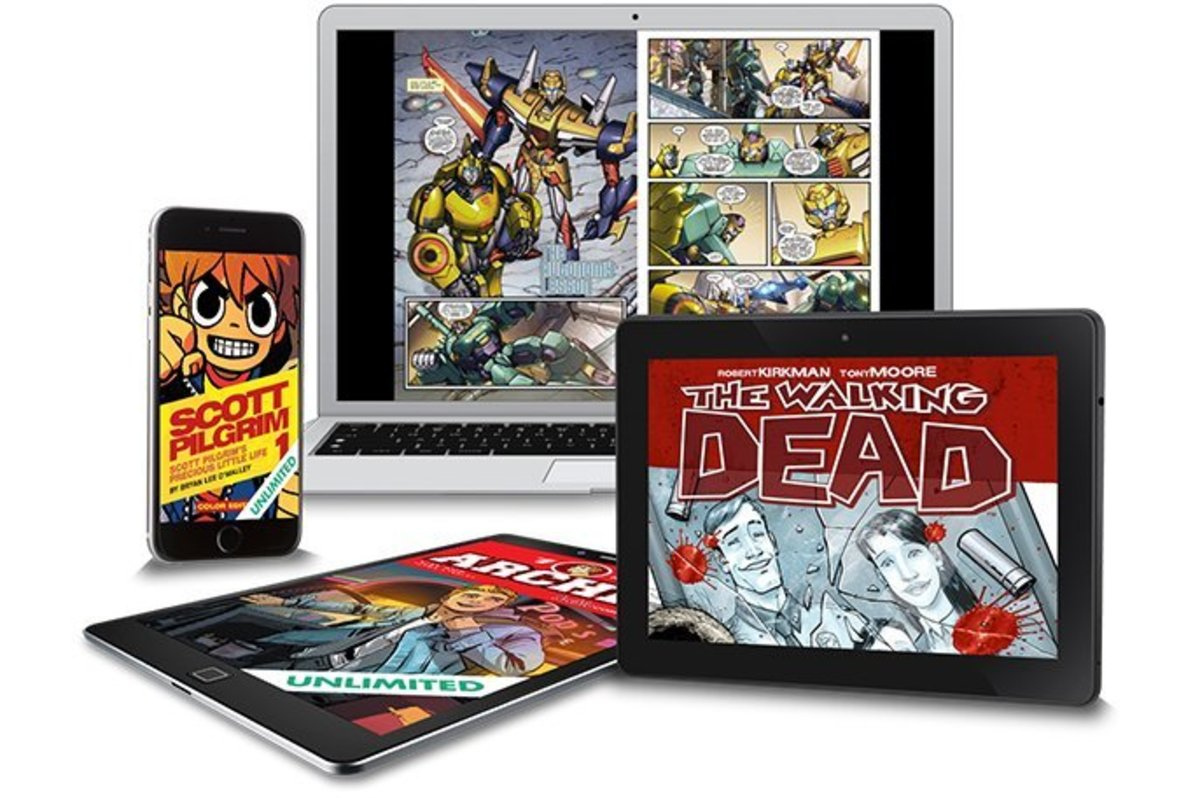 These comic readers have come a long range and are a fraction of the cost of print books.