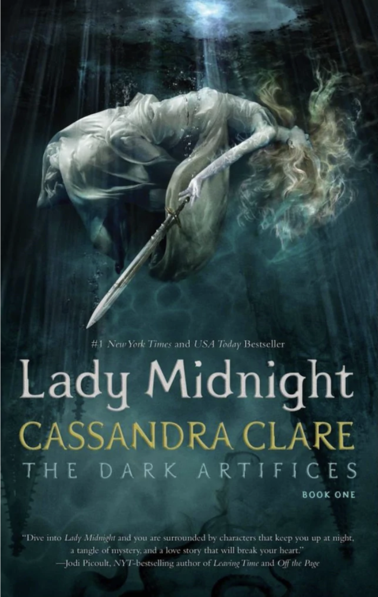 This is the front cover art for the book Lady Midnight written by Cassandra Clare. The book cover art copyright is believed to belong to Simon & Schuster.