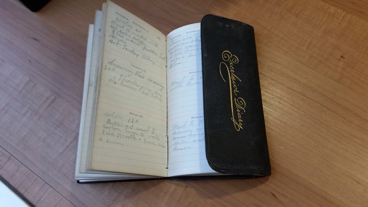 I have an 1886 diary for J.M. Boyles of New Castle, Pennsylvania.