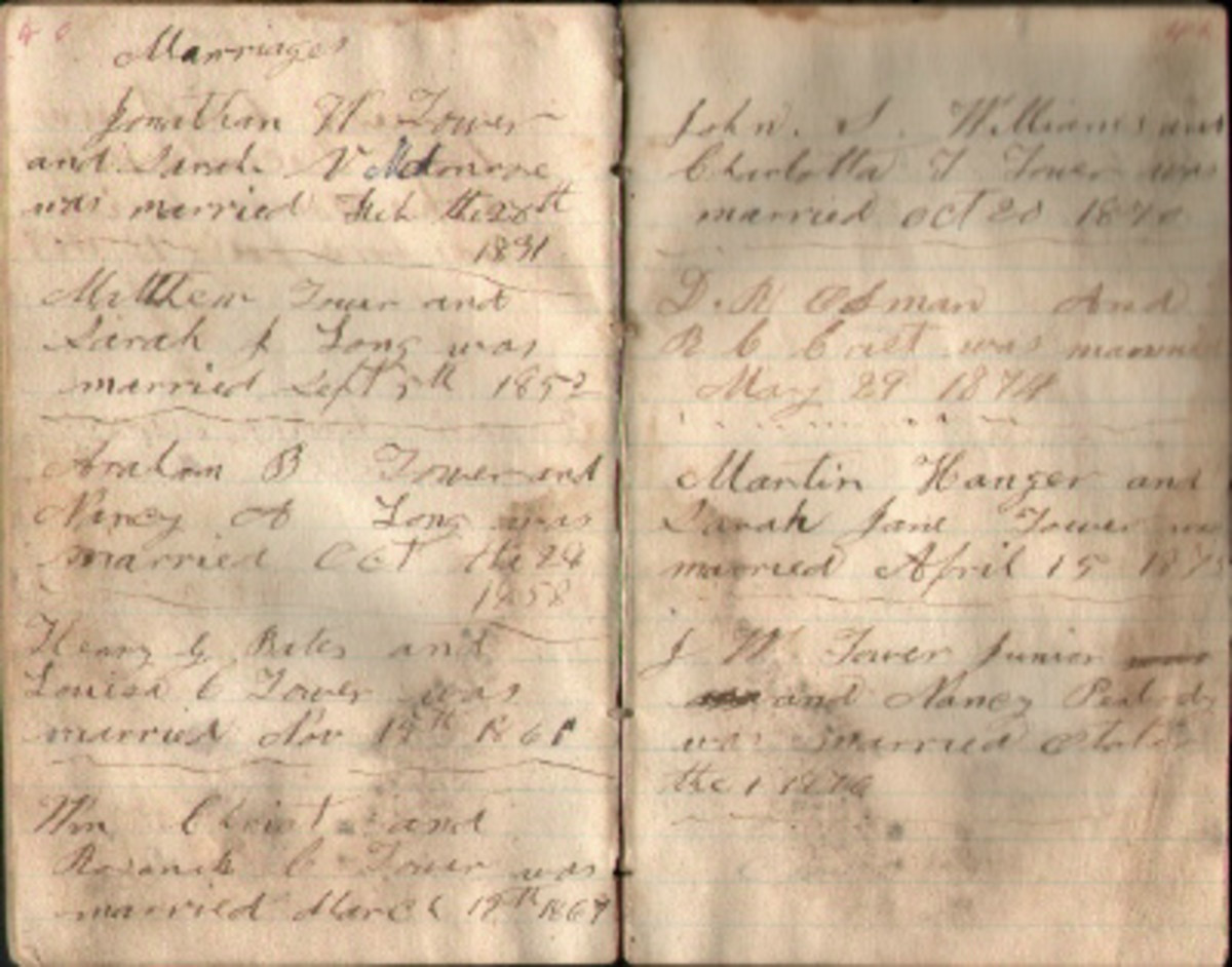 My great-great grandfather's pocket diary with entries after the Civil War.