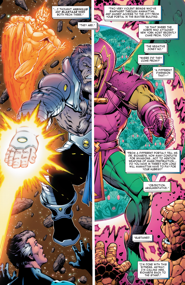 Left half Blastaar and Right half Annihilus