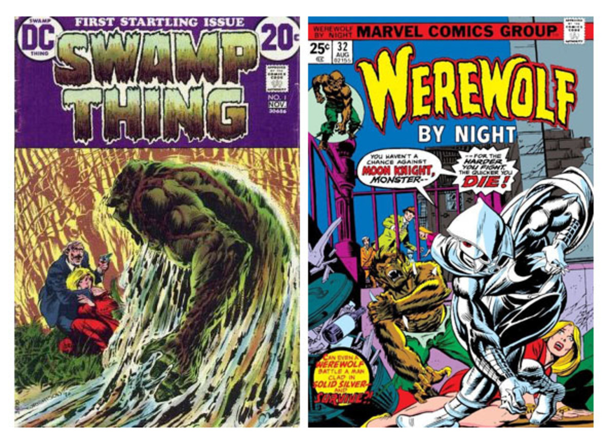 Swamp Thing #1 -------------- Werewolf By Night #32