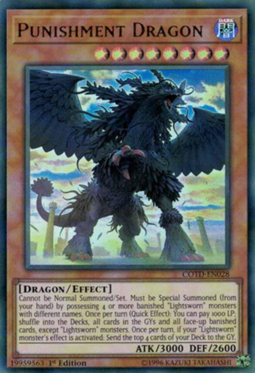 Judgment Dragon destroys all cards on the field while Punishment Dragon recycles all face-up banished and graveyard cards.  The writer thinks he prefers punishment over judgment.