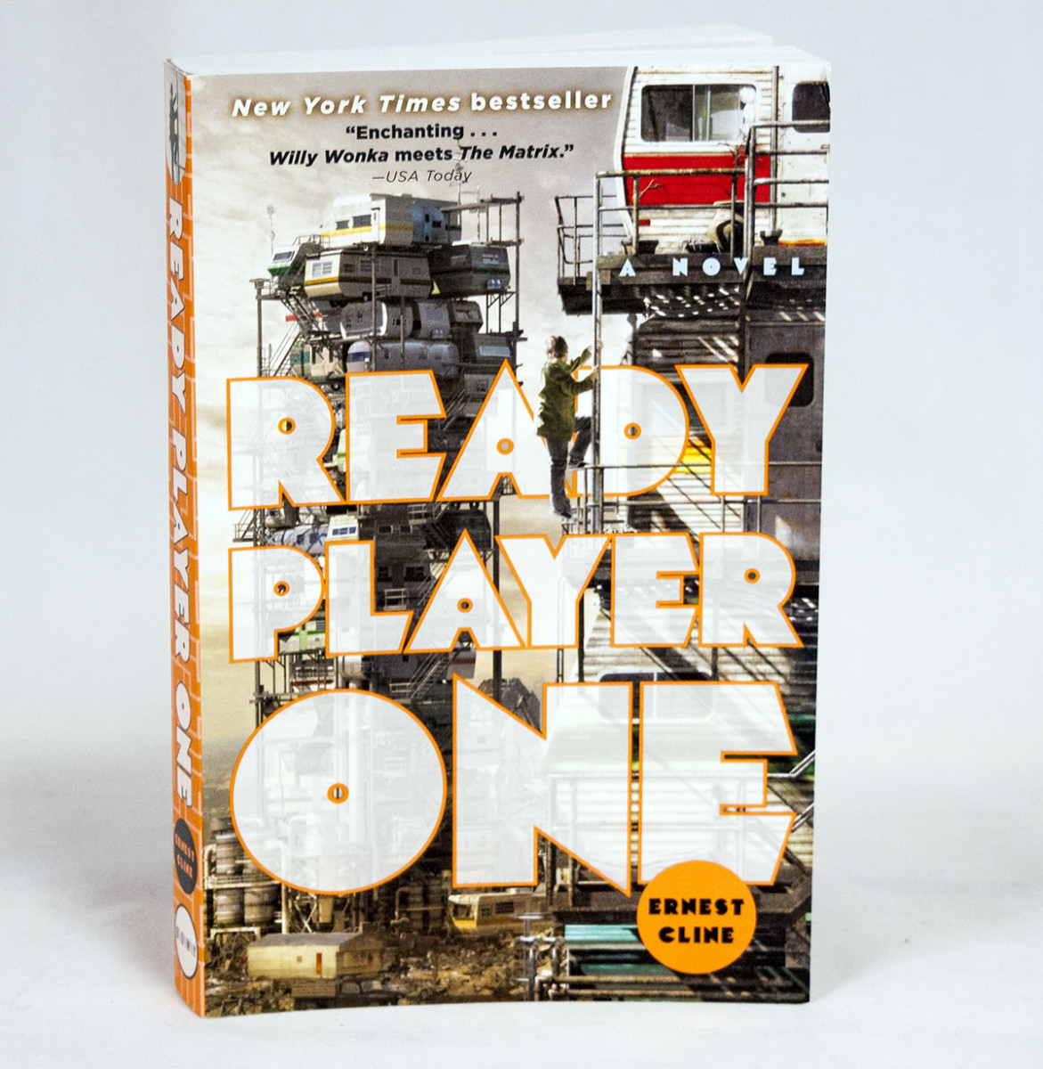 The book cover for Ready Player One