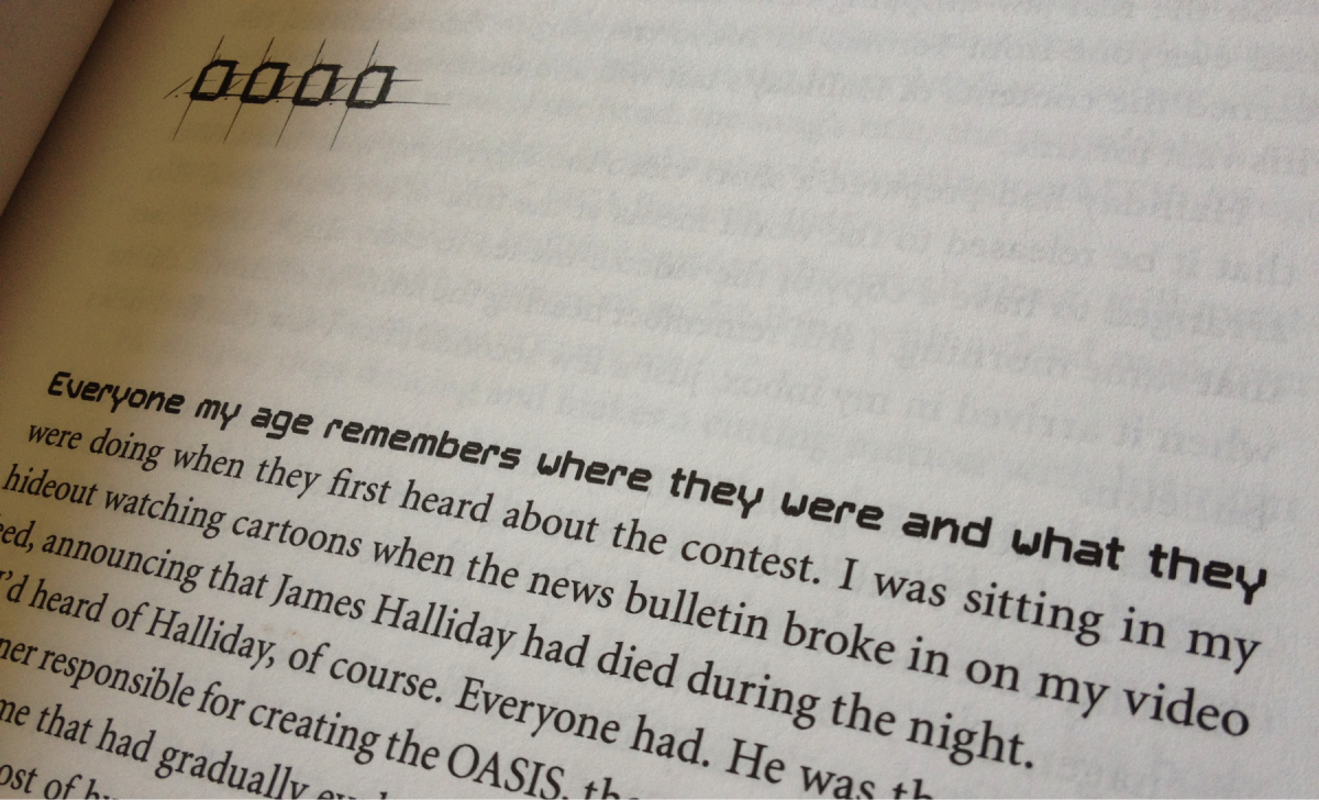 The opening narrative to the novel Ready Player One.