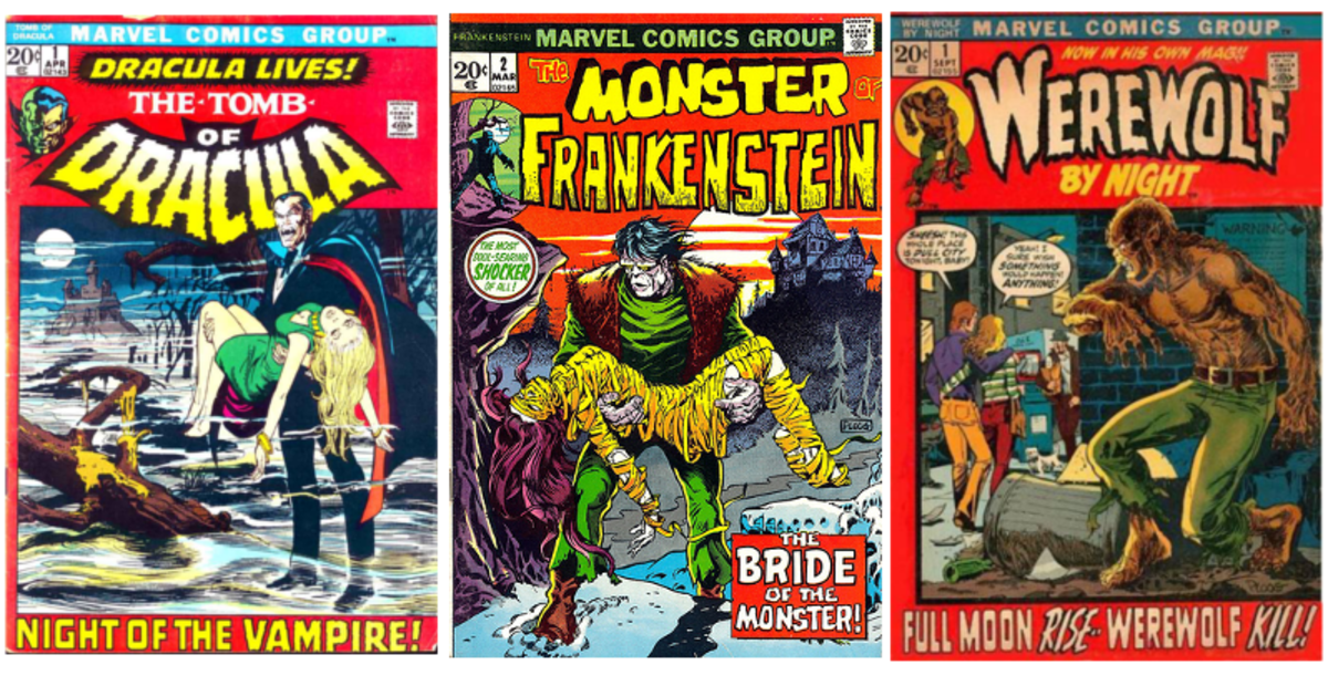 Dracula, Frankenstein, and the Werewolf later proved to be a good loophole to get more monsters to comics