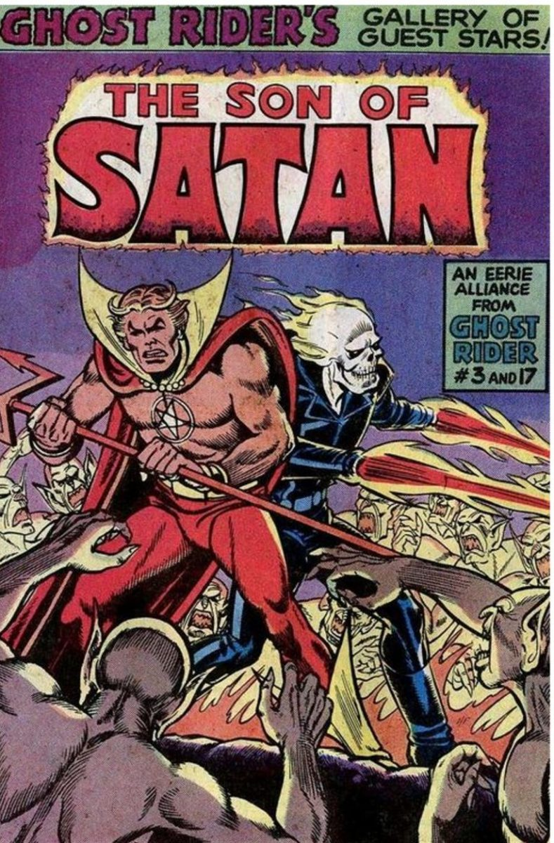 Daiman Hellstrom, aka The Son of Satan, embodied all of the devil spawn Marvel could get from Rosemary's Baby and The Ghost Rider - what happens when you make a deal with the Devil.