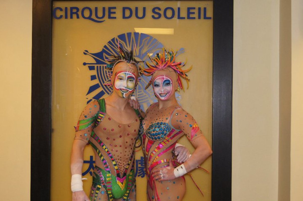 Ammed Tuniziani and Estefani Evans; Cirque du Soleil's 'Zaia' in 2010