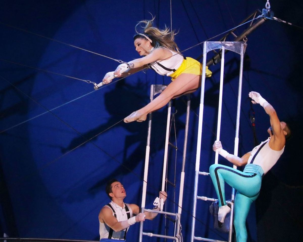 Estefani Evans in perfect position;  Big Apple Circus