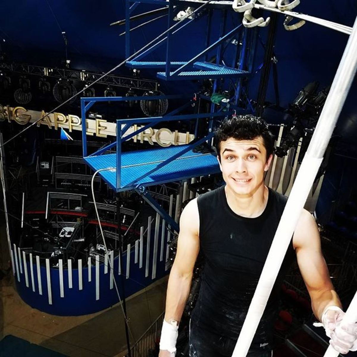 A smile before practice; Big Apple Circus