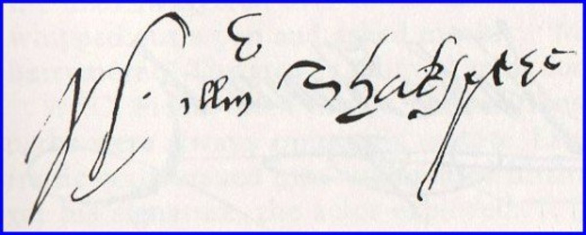 One of six known examples of William Shakespeare's autograph.