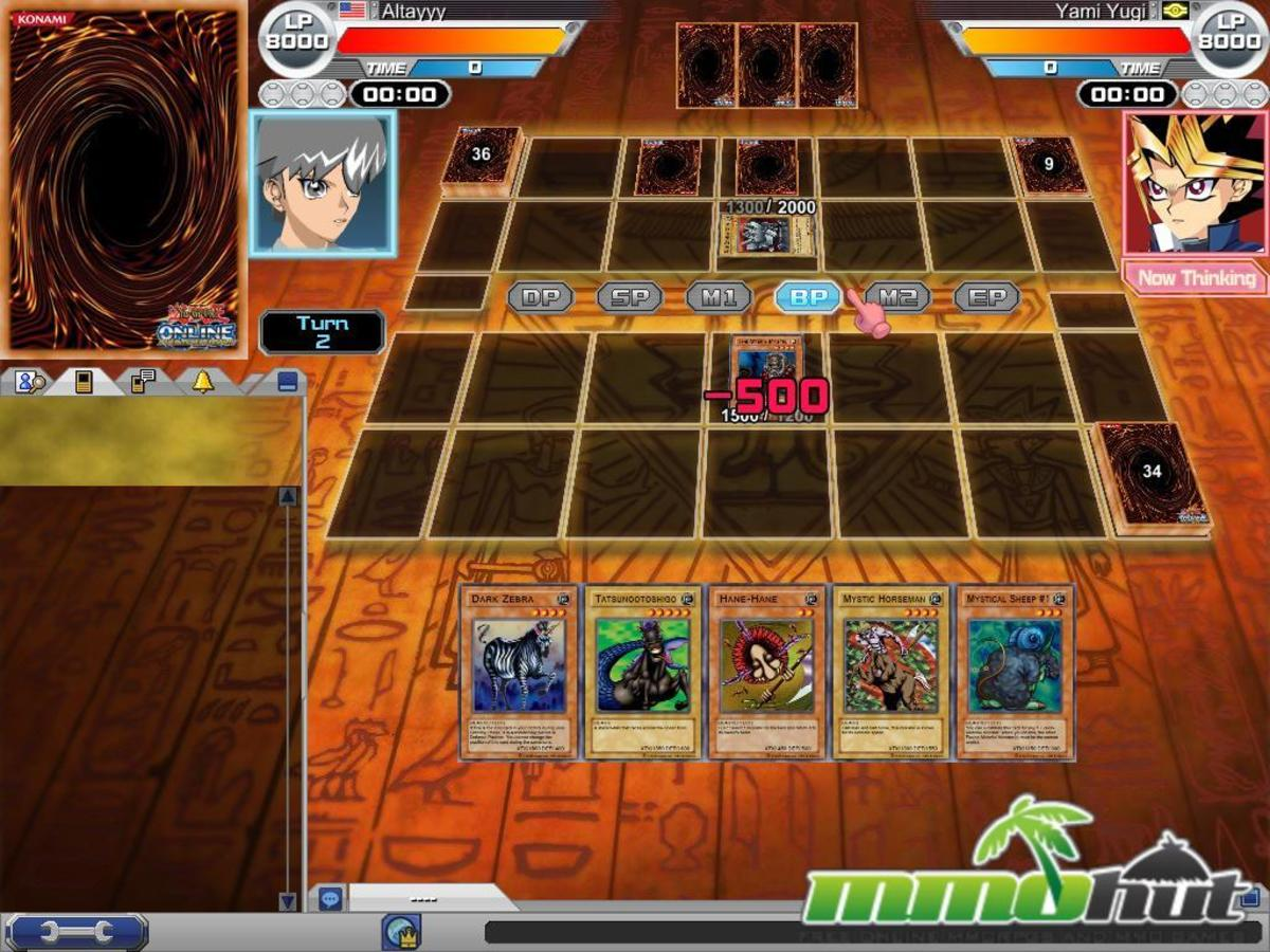 Screenshot from the Yu-Gi-Oh online trading card game