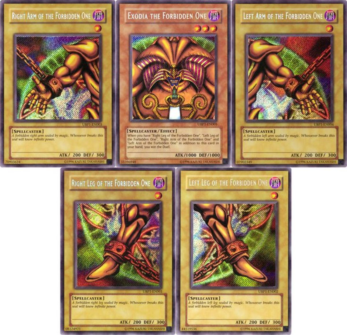 The Exodia Cards