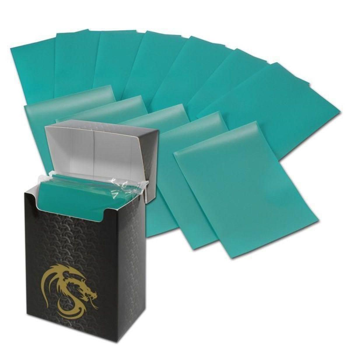 Deck Guard teal card sleeves