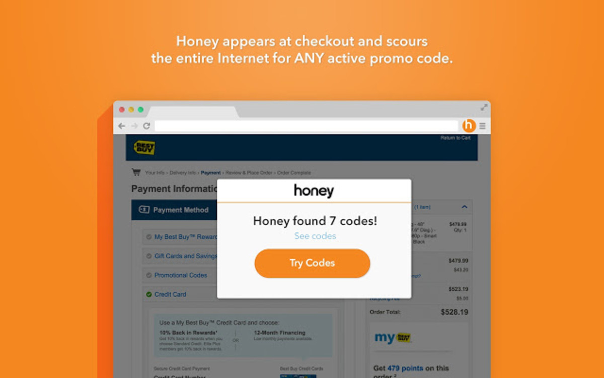 The Honey App in action