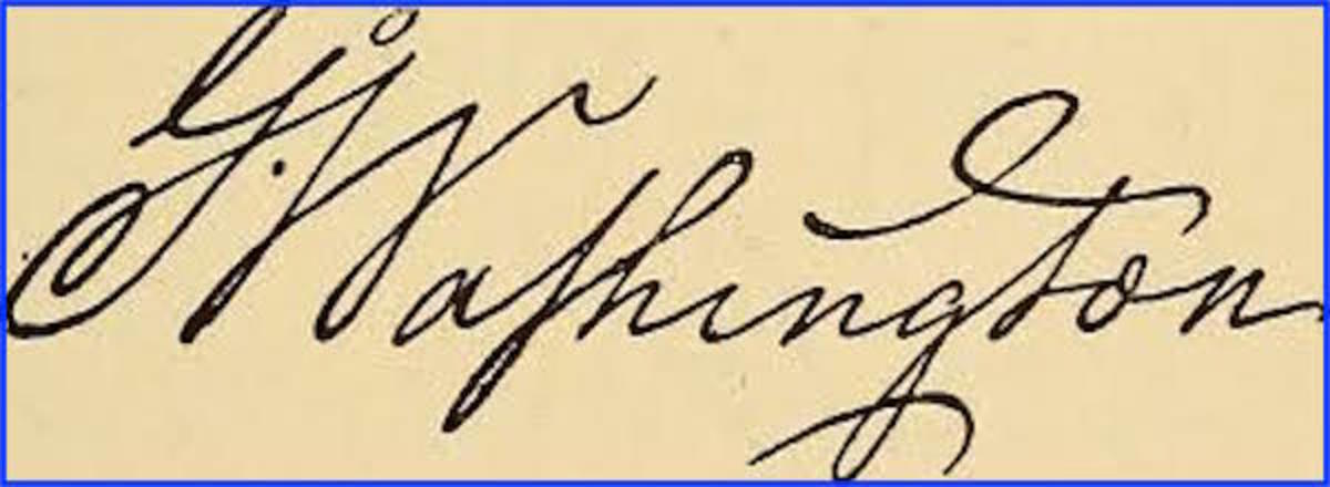 Of all U.S. presidents, the autograph of George Washington is one of the most commonly forged.  A genuine simple signature of Washington in nice condition can easily sell for more than $10,000.