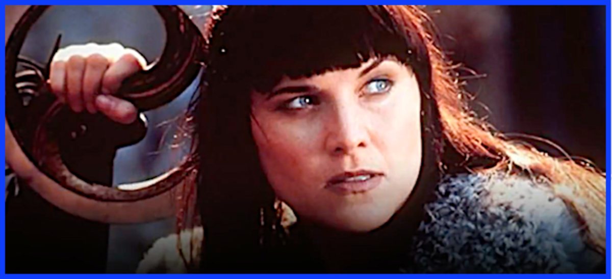 "Lucy Lawless played ""Xena"" on the popular 1990s TV series.  Her authentic hand-signed color photographs in character as Xena are worth around $100 today."