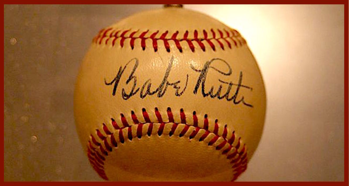 Babe Ruth's autographs on baseballs can sell for several thousand dollars, sometimes more.