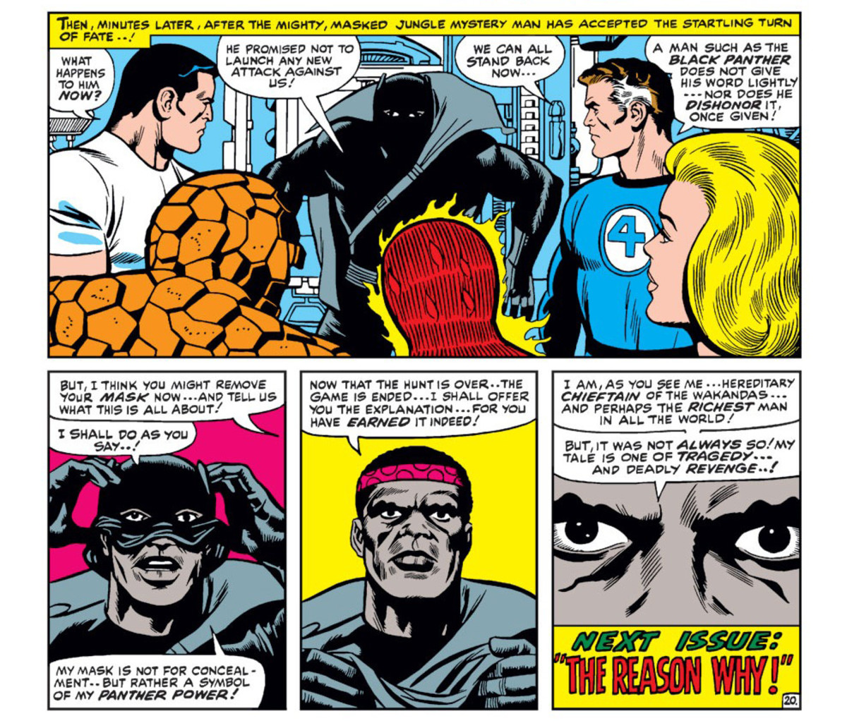Panels from Fantastic Four #52 by Marvel Comics.