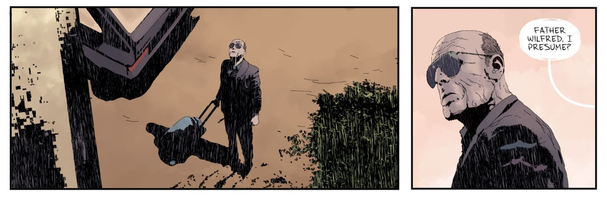 Father Fred arriving at Gideon Falls.