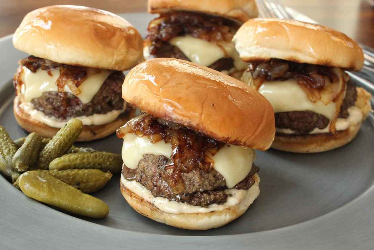 In 2008, sliders or mini burgers were a crowd-pleaser.