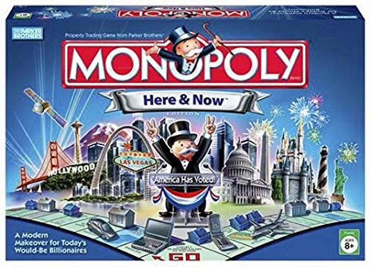 In 2008, Monopoly Here & Now was a popular Christmas gift.