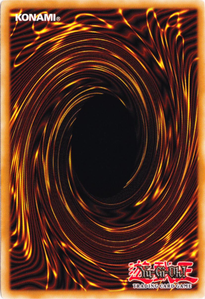 A Yu-Gi-Oh card back