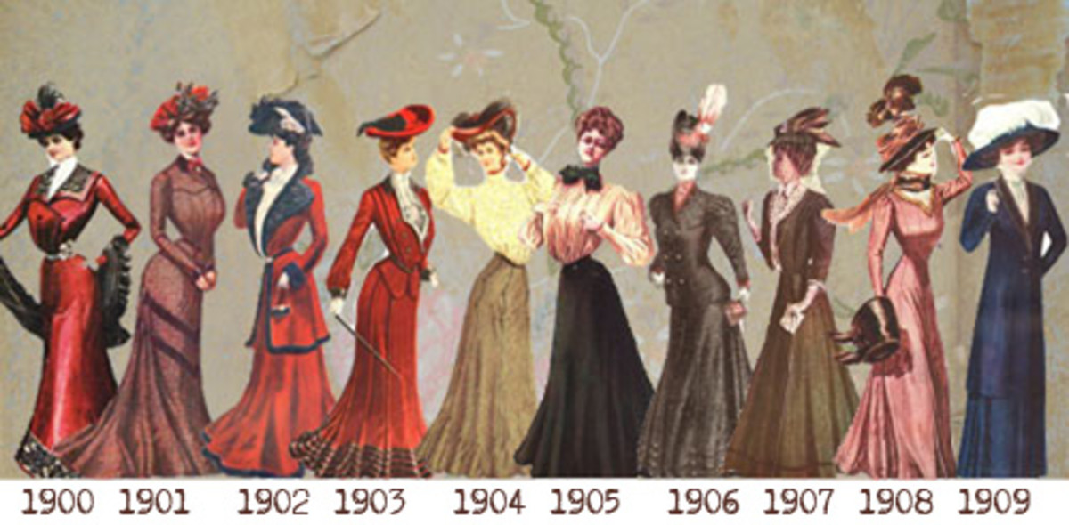 In 1906, Edwardian-style clothing was all the rage.