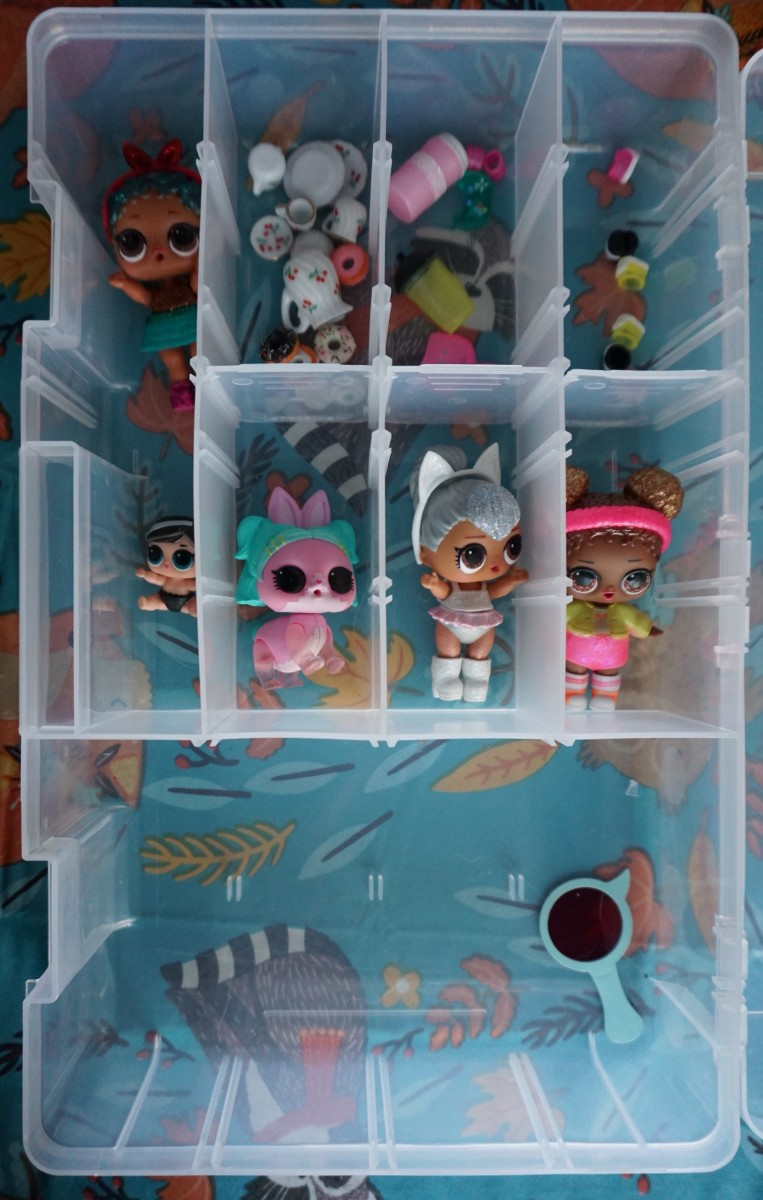 A clear tackle box works well for organizing the infinite number of accessories you'll acquire in very short amount of time.