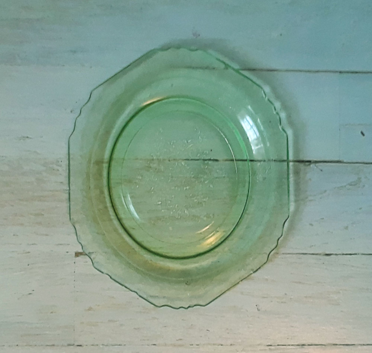 Florentine #1 green sherbet plate