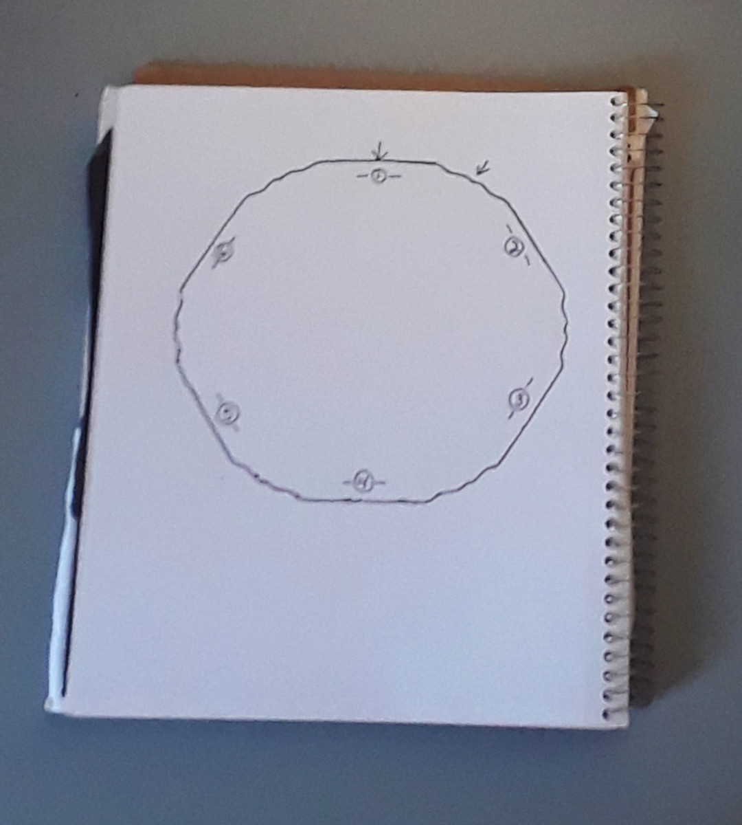 Trace a plate onto a piece of paper to see the outline