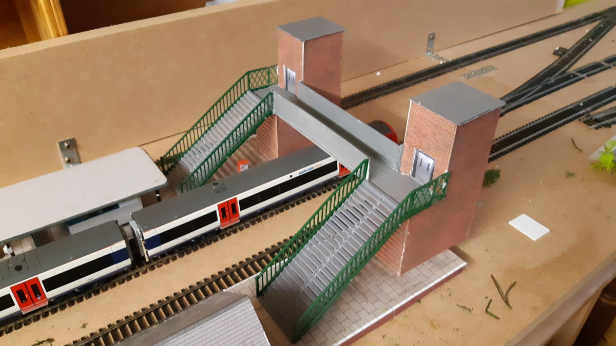 In place on the layout