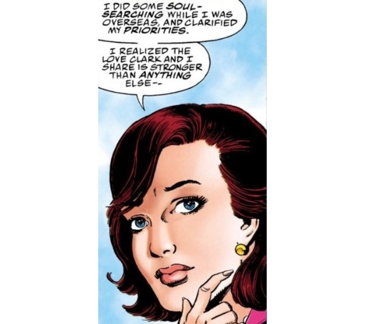 "Panel from ""Superman: The Wedding Album"""