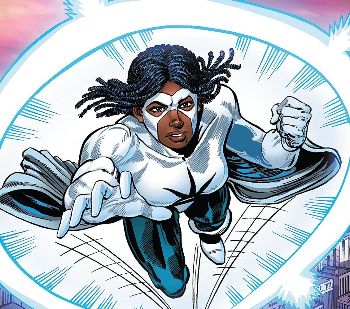 Monica Rambeau as Captain Marvel joined the Avengers and eventually led the team