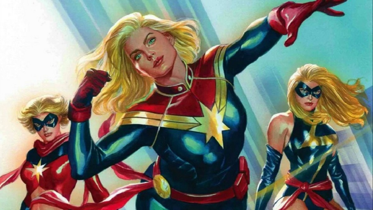 Carol Danvers as Ms Marvel, Captain Marvel, and Warbird