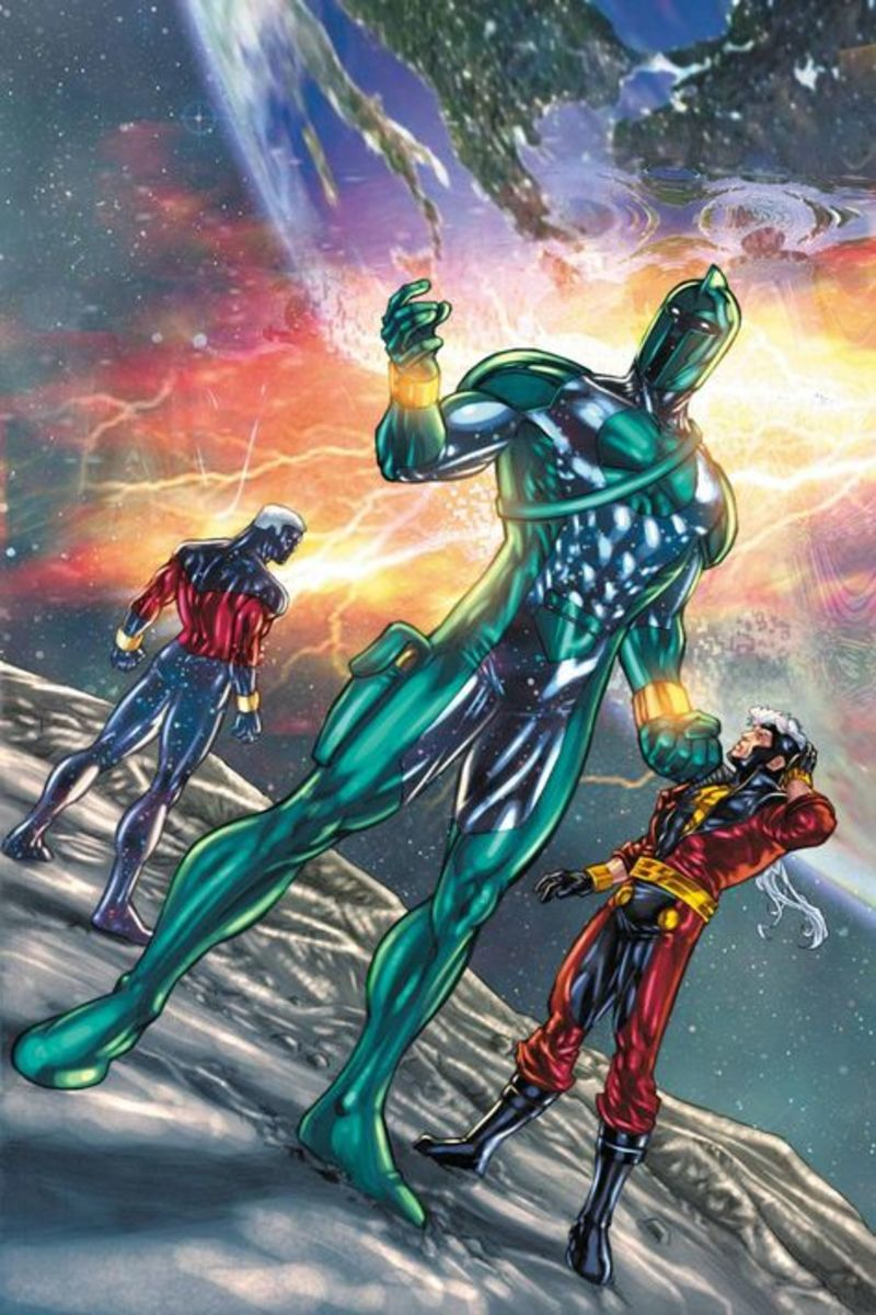 Genis-Vell in the three phases of his hero career