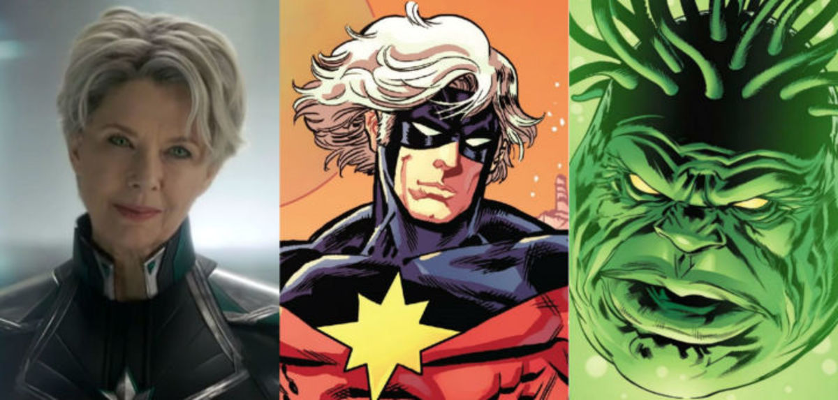 The three faces of Annette Bening in Captain Marvel