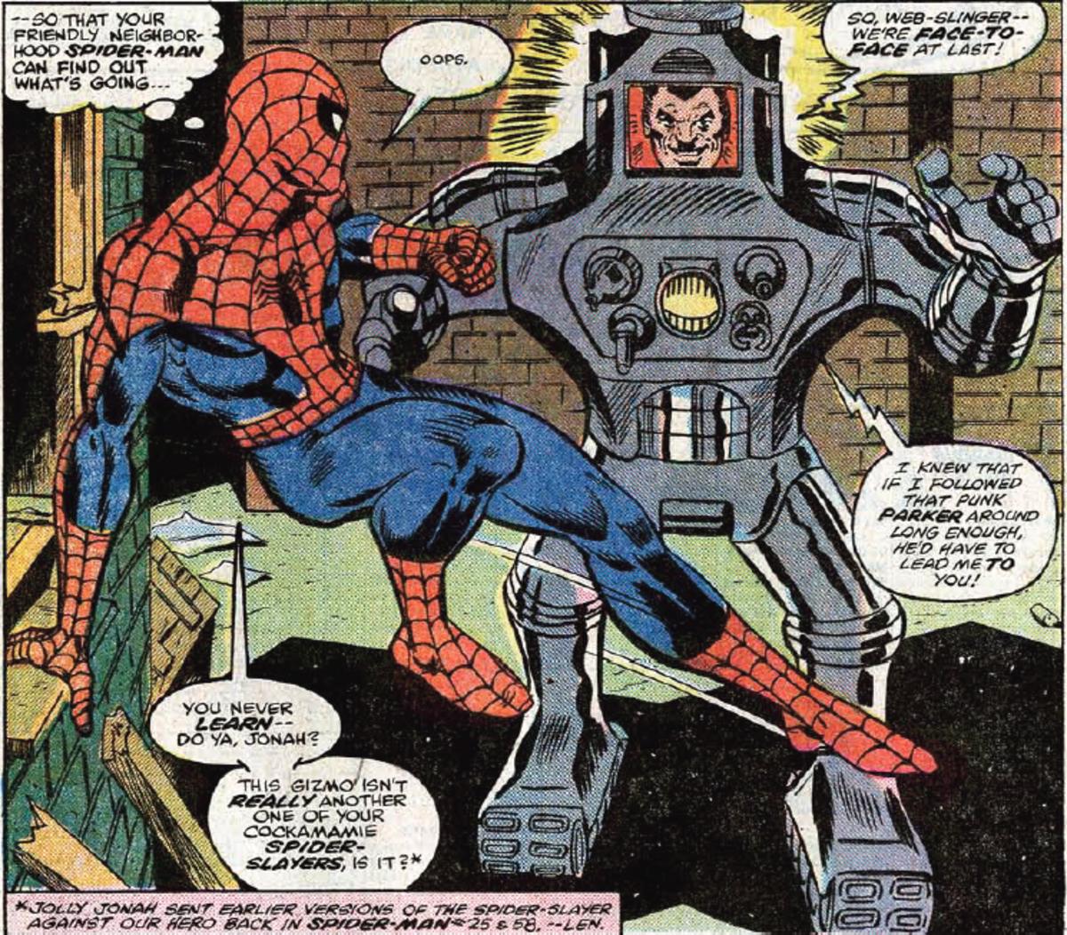 J. Jonah Jameson gets his revenge with a spider-slayer