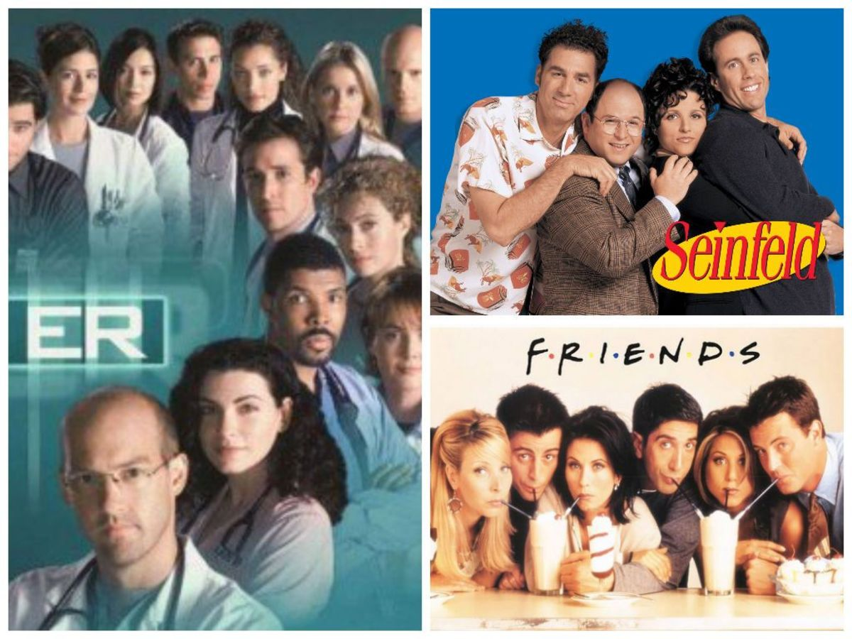In 1996, ER, Seinfeld, and Friends were three of the most popular television shows.