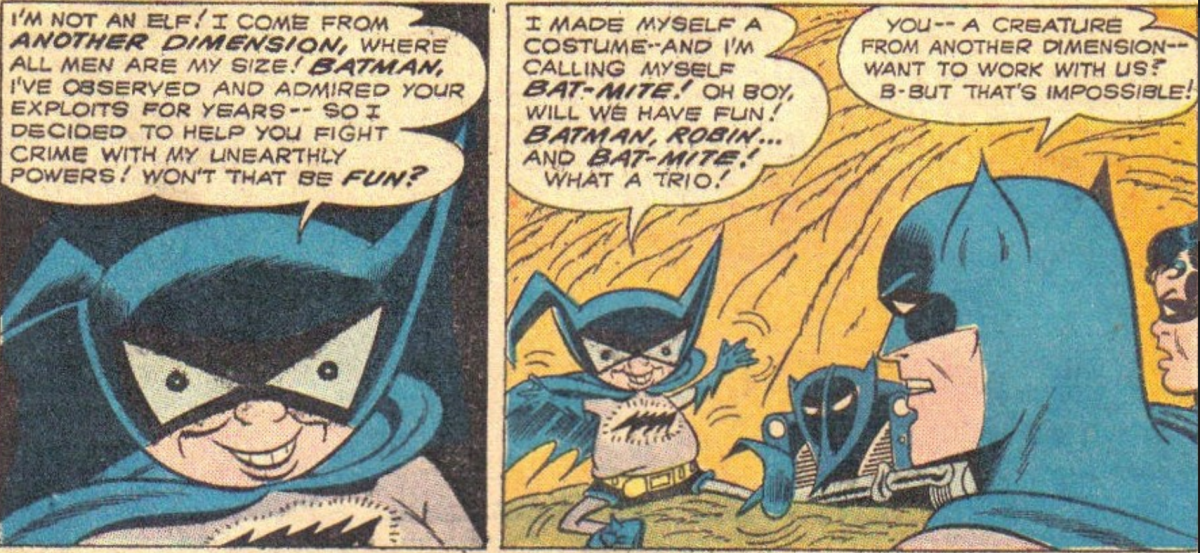 Yes, Bat-Mite has been around for a while