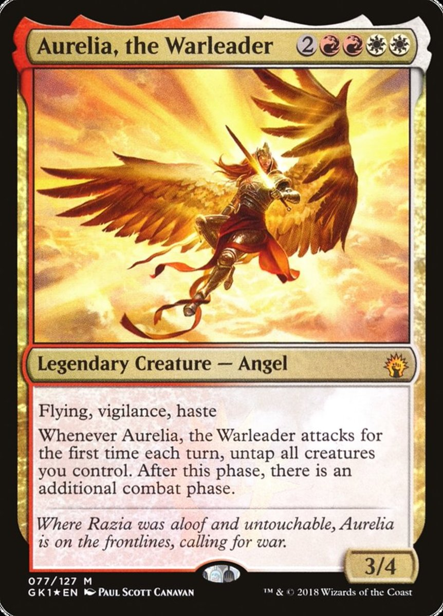 Aurelia, the Warleader mtg